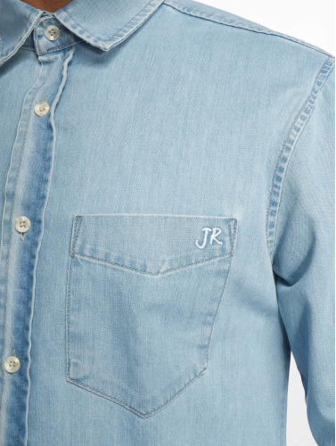 Just Rhyse Hombres Camisa Denim in azul