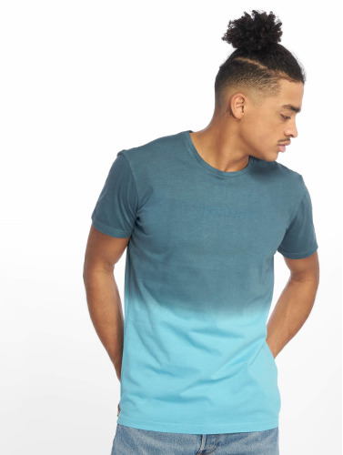 Just Rhyse Hombres Camiseta Two Tone in azul