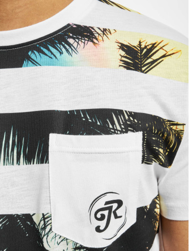 Just Rhyse Hombres Camiseta Oliver in blanco