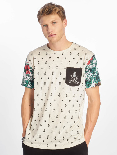 Just Rhyse Hombres Camiseta Paradise in blanco