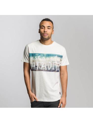 Just Rhyse Hombres Camiseta Long Beach in blanco