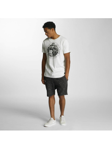 Just Rhyse Hombres Camiseta Wilde Side in blanco