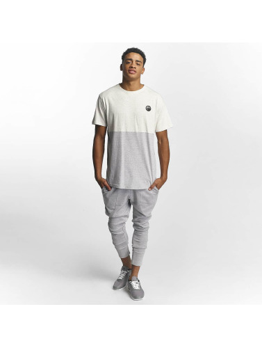 Just Rhyse Hombres Camiseta Divided in blanco
