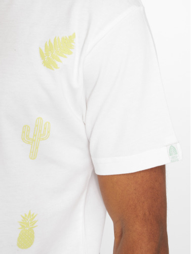 Just Rhyse Hombres Camiseta Pomata in blanco