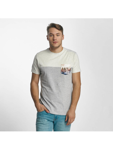 Just Rhyse Hombres Camiseta Guadalupe in gris