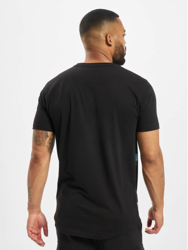 Just Rhyse Hombres Camiseta Beach II in negro