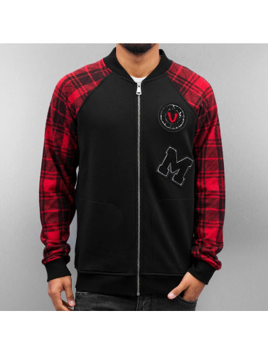 Just Rhyse Hombres Chaqueta de béisbol Patches in negro
