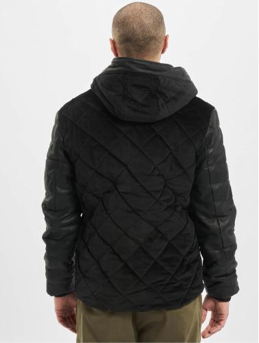 Just Rhyse Hombres Chaqueta de invierno Quilted in negro