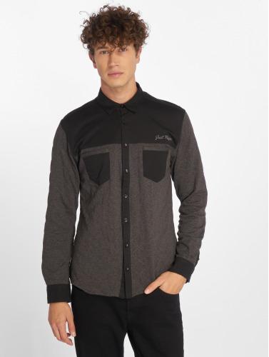 Just Rhyse Herren Hemd Quilted in schwarz