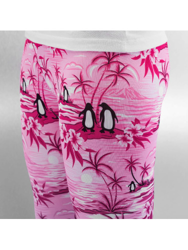 Just Rhyse Damen Legging Penguin in pink