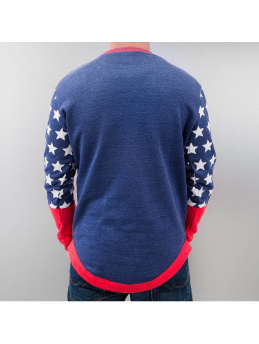 Just Rhyse Herren Pullover Star in blau