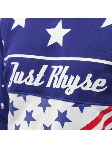 Just Rhyse Herren Pullover US Logo in blau