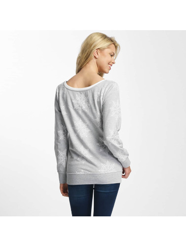 Just Rhyse Damen Pullover Snowy Days in grau