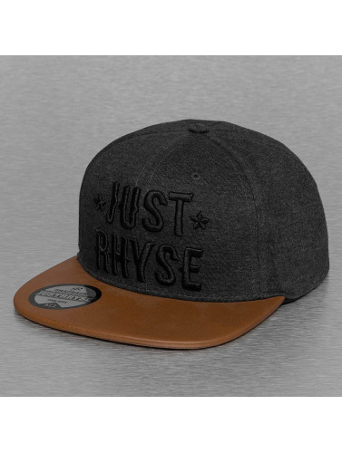Just Rhyse Snapback Cap Logo in grau