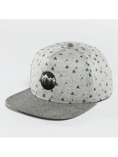 Just Rhyse Snapback Cap Happy Trees in grau