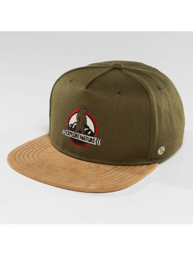 Just Rhyse Snapback Cap Mentasta Lake Starter in olive