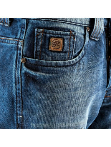 Just Rhyse Herren Straight Fit Jeans Patch In Blau