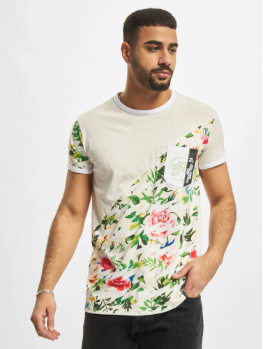 Just Rhyse Herren T-Shirt Floral in grau