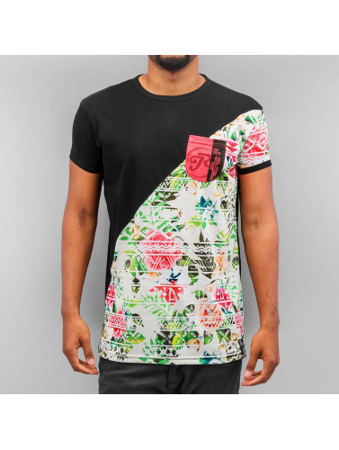 Just Rhyse Herren T-Shirt Flower 02 in schwarz