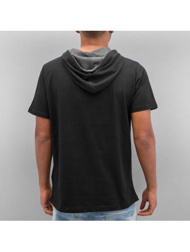 Just Rhyse Herren T-Shirt Hooded in schwarz