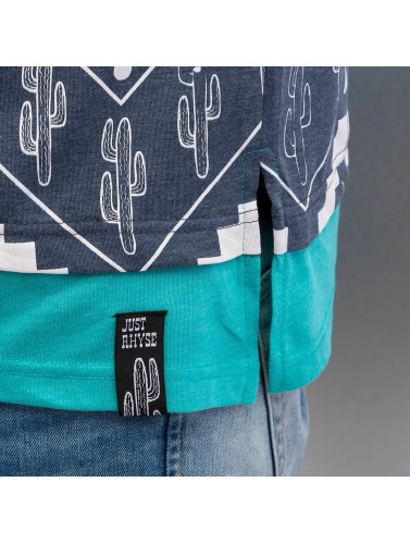 Just Rhyse Herren Tall Tees Cactus in blau