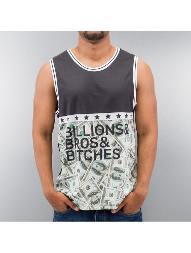 Just Rhyse Herren Tank Tops Billions Bros Bitches in schwarz