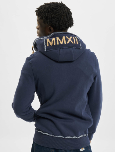 Just Rhyse Herren Zip Hoodie Big in blau