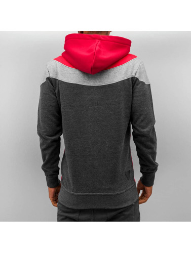 Just Rhyse Herren Zip Hoodie Triangle in grau