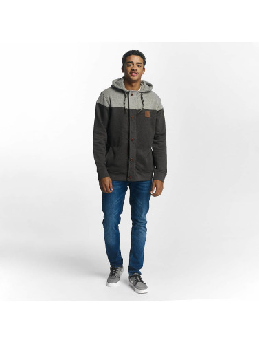 Just Rhyse Herren Zip Hoodie Ocotillo in grau