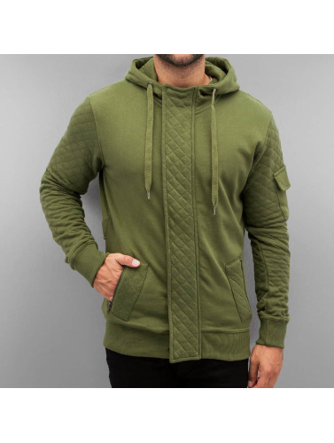 Just Rhyse Herren Zip Hoodie Step in olive
