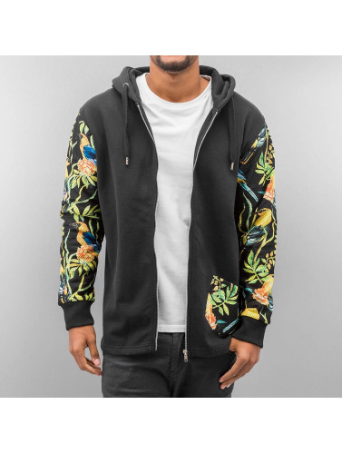 Just Rhyse Herren Zip Hoodie Jungle in schwarz