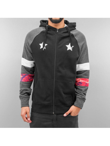 Just Rhyse Herren Zip Hoodie Toulon in schwarz