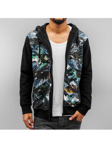 Just Rhyse Herren Zip Hoodie Santa Cruz in schwarz