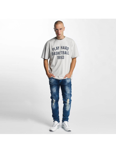 K1X Hombres Camiseta Play Hard Basketball in gris