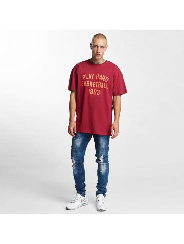 K1X Hombres Camiseta Play Hard Basketball in rojo