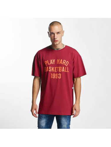 K1X Herren T-Shirt Play Hard Basketball in rot