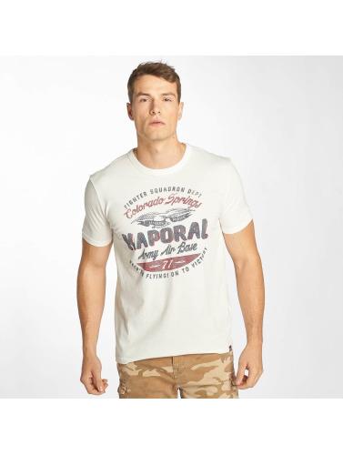 Kaporal Herren T-Shirt Logo in weiß