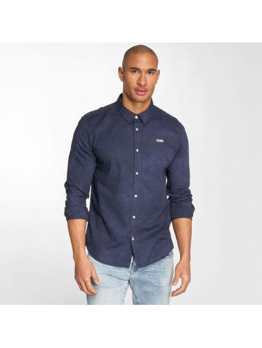 Khujo Hombres Camisa Shagg in azul