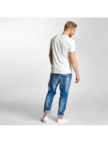 Khujo Hombres Camiseta Tarasco in blanco