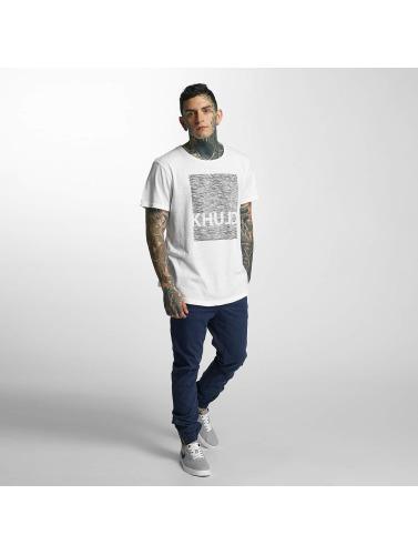 Khujo Hombres Camiseta Tario in blanco