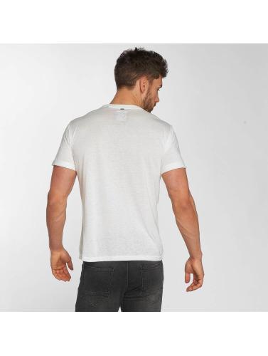 Khujo Hombres Camiseta Thyrone in blanco