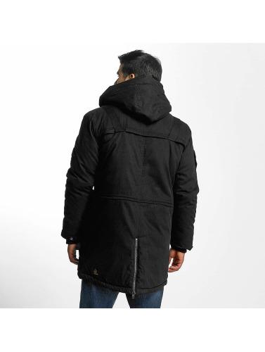 Khujo Hombres Chaqueta de invierno Samuel in negro