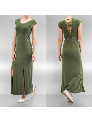 Khujo Damen Kleid Zaibu in olive