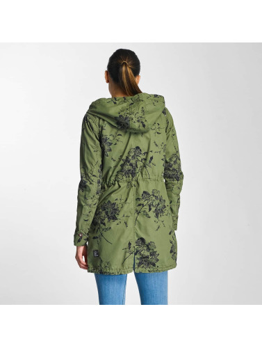 Khujo Damen Mantel Kaatje in grün
