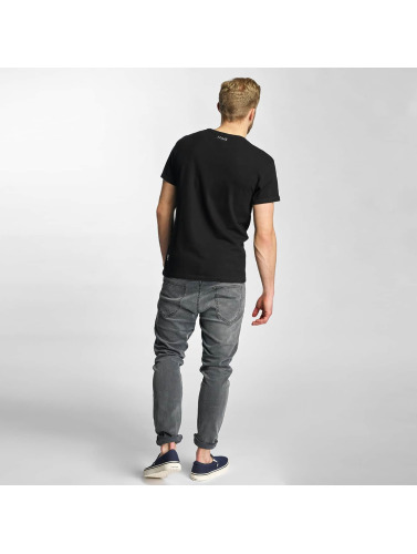 Khujo Herren T-Shirt Tough in schwarz