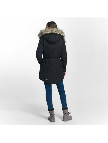 Khujo Damen Winterjacke Retro Bugs in blau