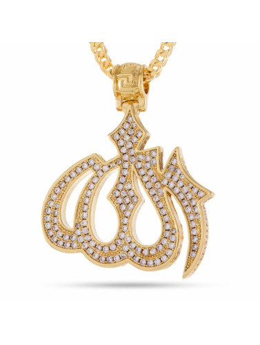 KING ICE Kette Allah in goldfarben