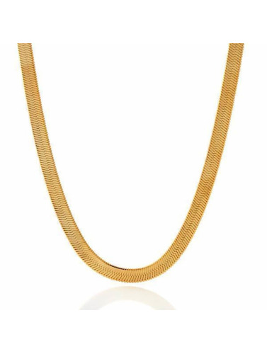 KING ICE Kette Gold_Plated 5mm Thin Herringbone Chain in goldfarben