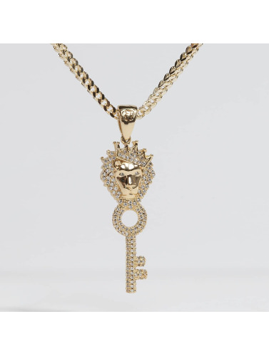 KING ICE Kette Gold_Plated CZ The Major Key in goldfarben
