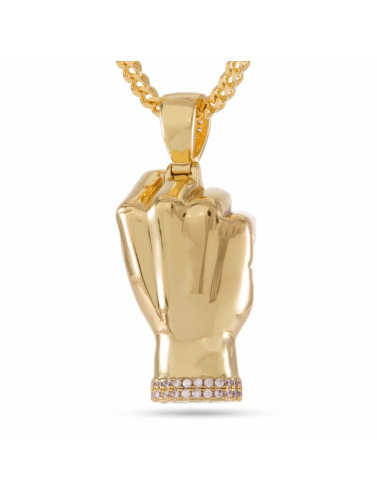KING ICE Kette JUNGL JULZ Gold_Plated CZ Power in goldfarben